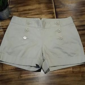 Express Cream Sailor Shorts Size 10